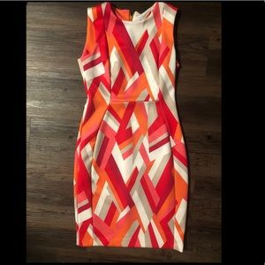 Calvin Klein Geometric Pencil Dress
